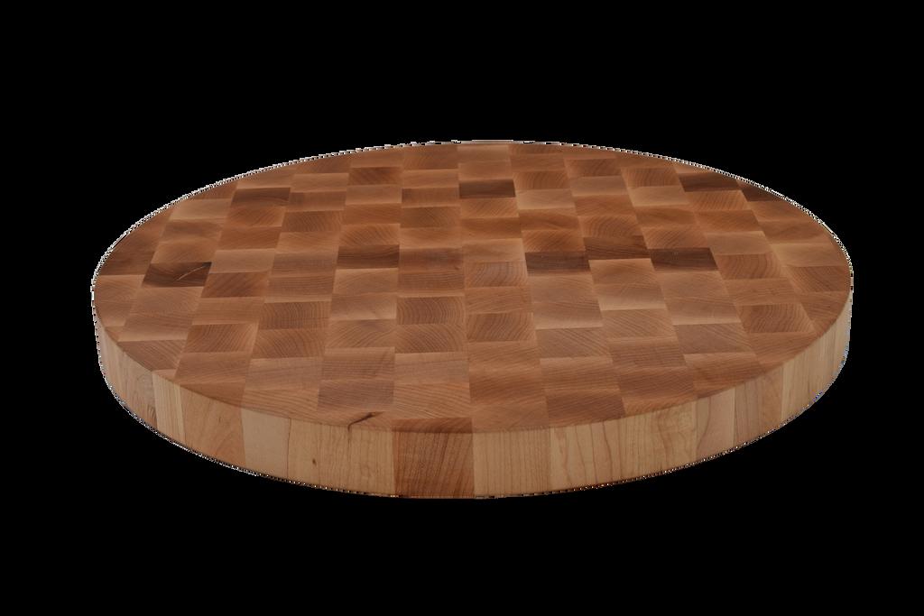 Maple End Grain Round Cutting Board.