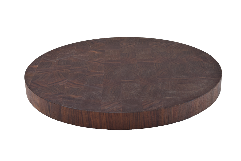 Walnut End Grain Round Cutting Board.