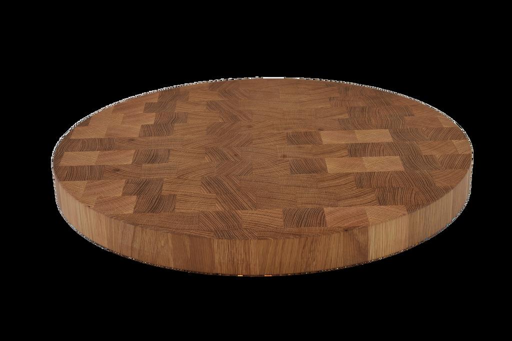 White Oak End Grain Round Cutting Board.