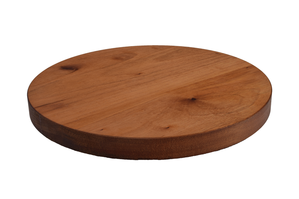 African Mahogany Wide Plank Round Cutting Board