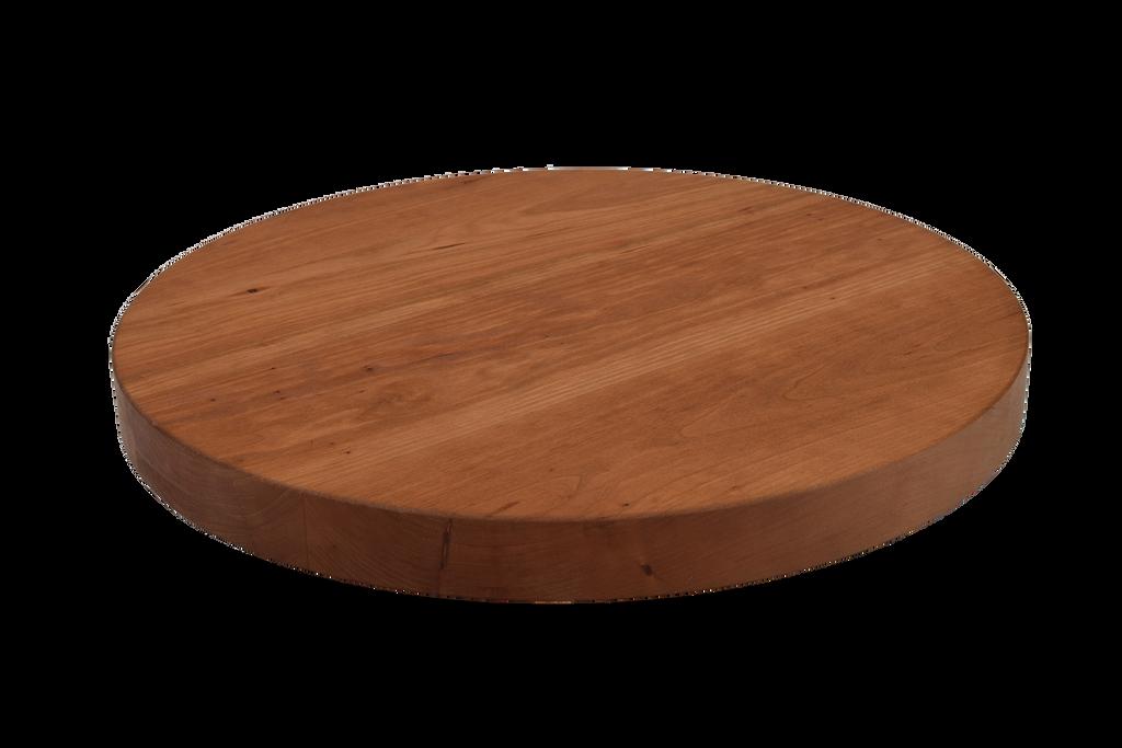 Cherry Wide Plank Round Cutting Board