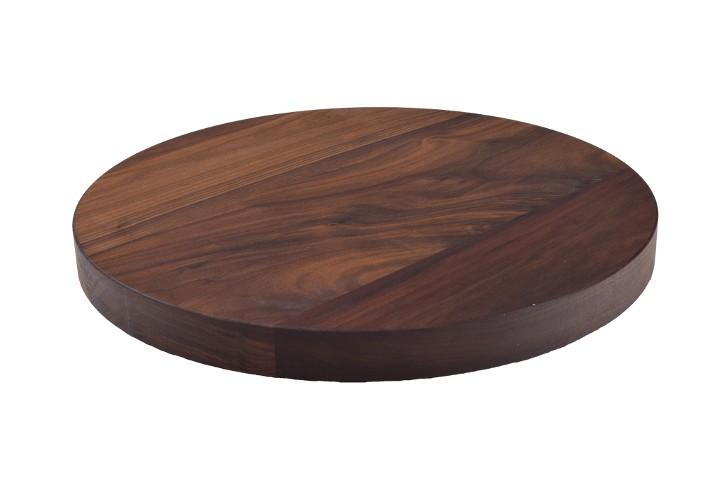 Walnut Wide Plank Round Cutting Board.