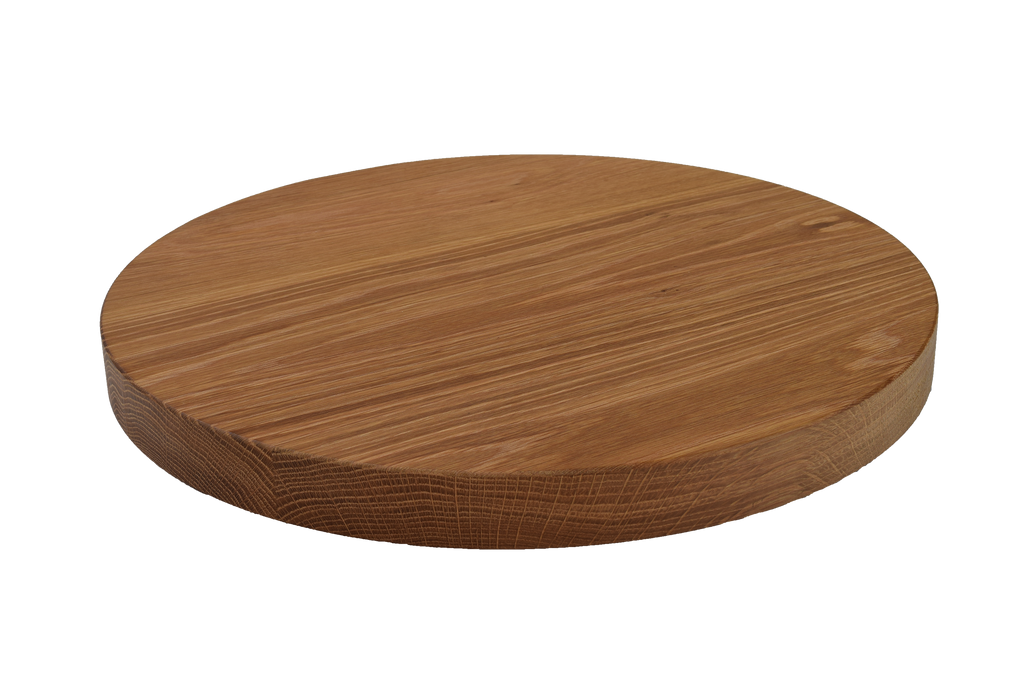 White Oak Wide Plank Round Cutting Board.