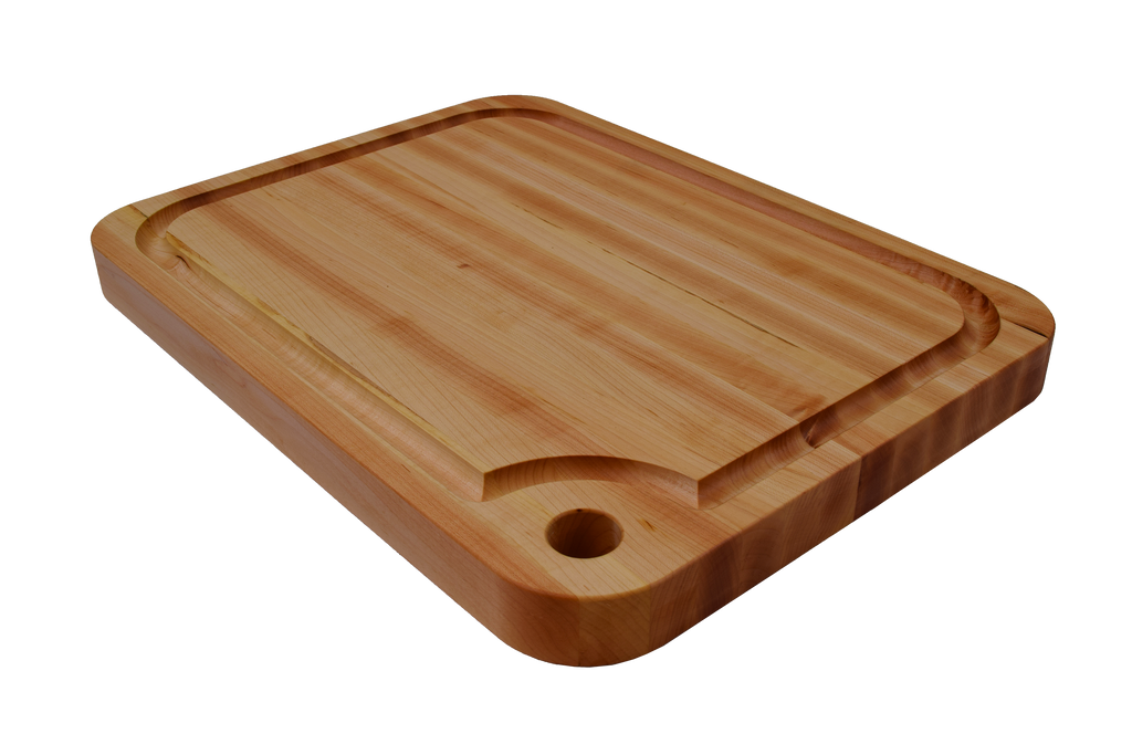 Specialty Curved Finger Hole Cutting Board