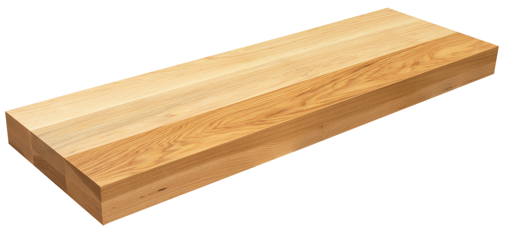 Rustic Hickory Floating Stair Tread FG