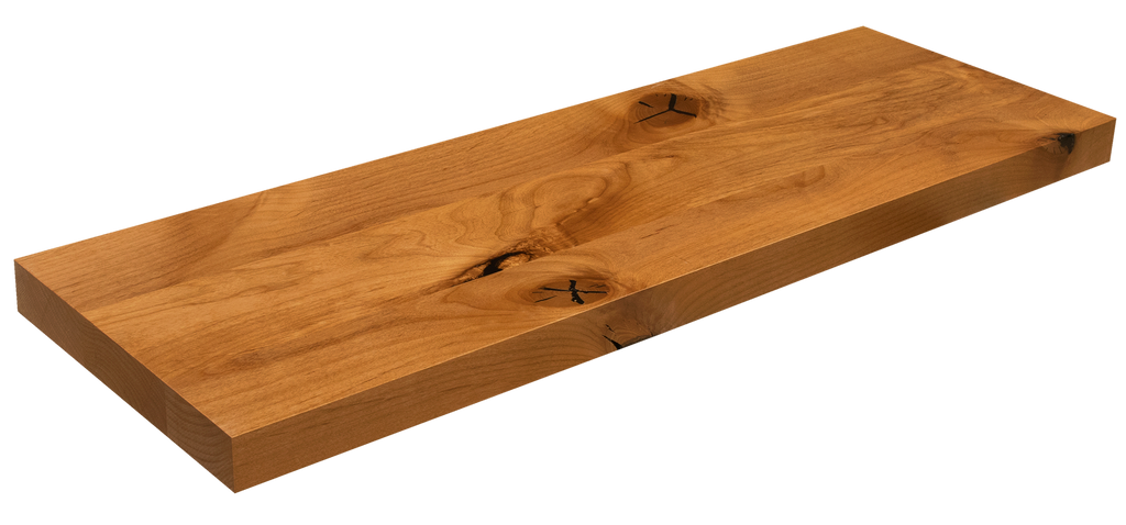 Knotty Alder Floating Stair Tread WP