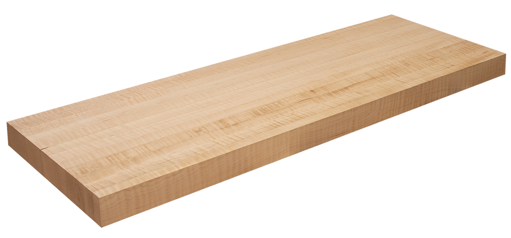 Curly Maple Floating Stair Tread EG