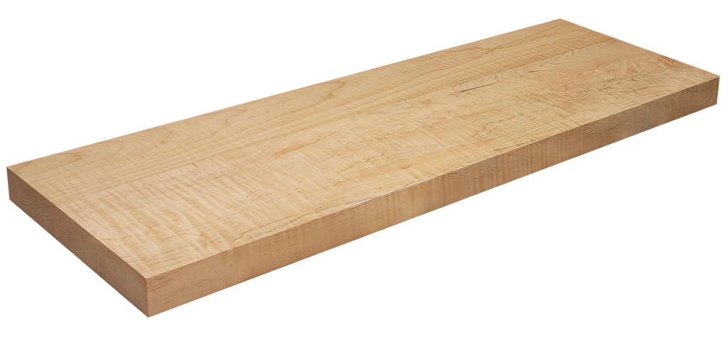 Curly Maple Floating Stair Tread WP