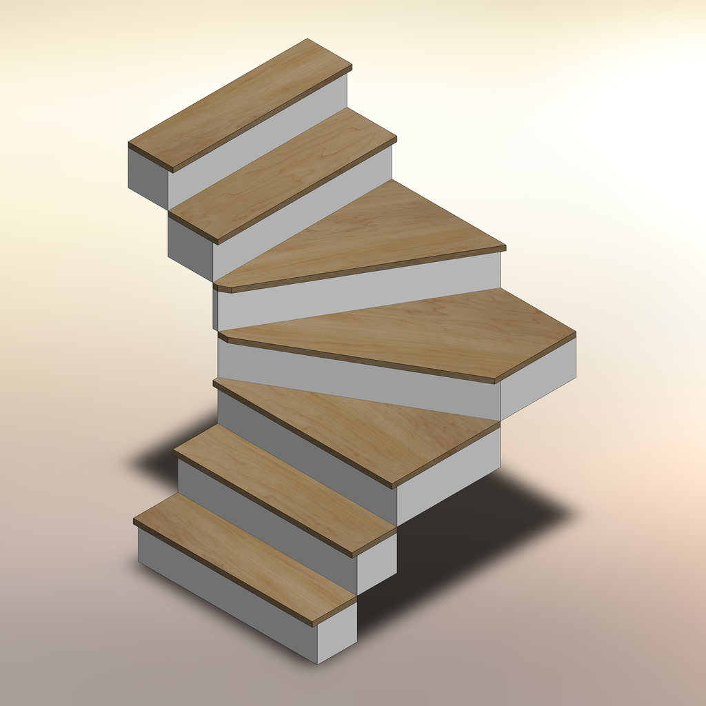 Hard Maple Winder Treads