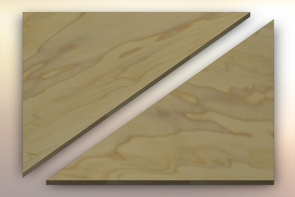 Poplar Winder Treads diagonally cut into two pieces.