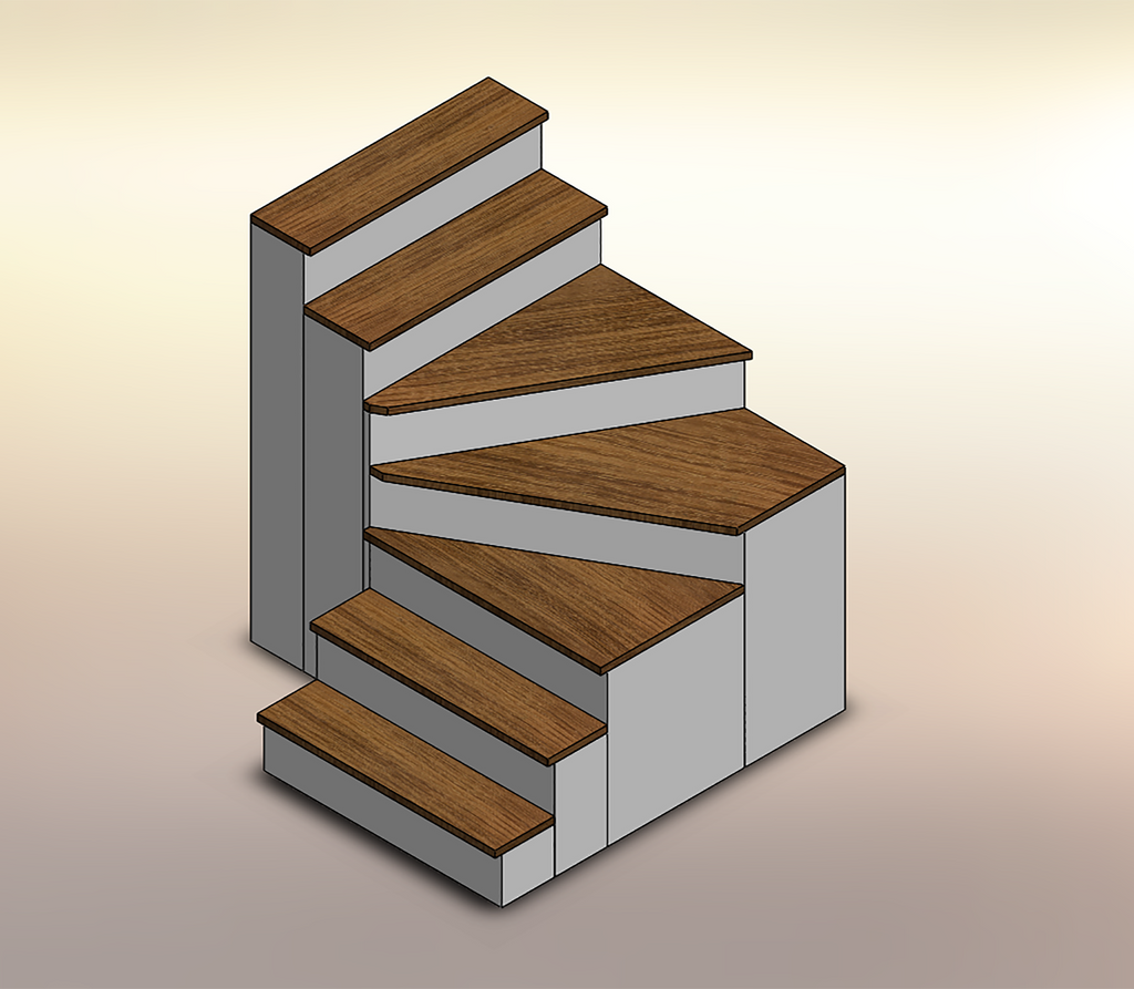 Acacia Winder Stair Treads