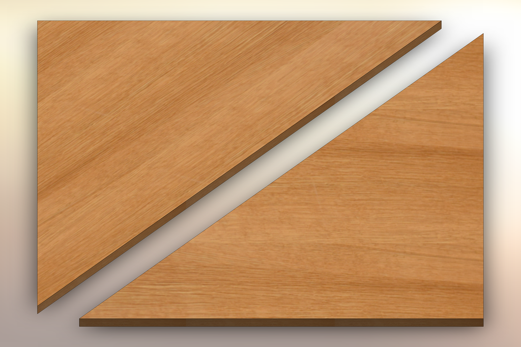 Quarter Sawn White Oak Winder Treads diagonally cut into two pieces.
