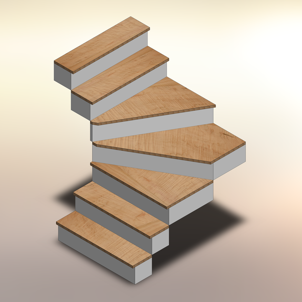 Curly Maple Winder Treads