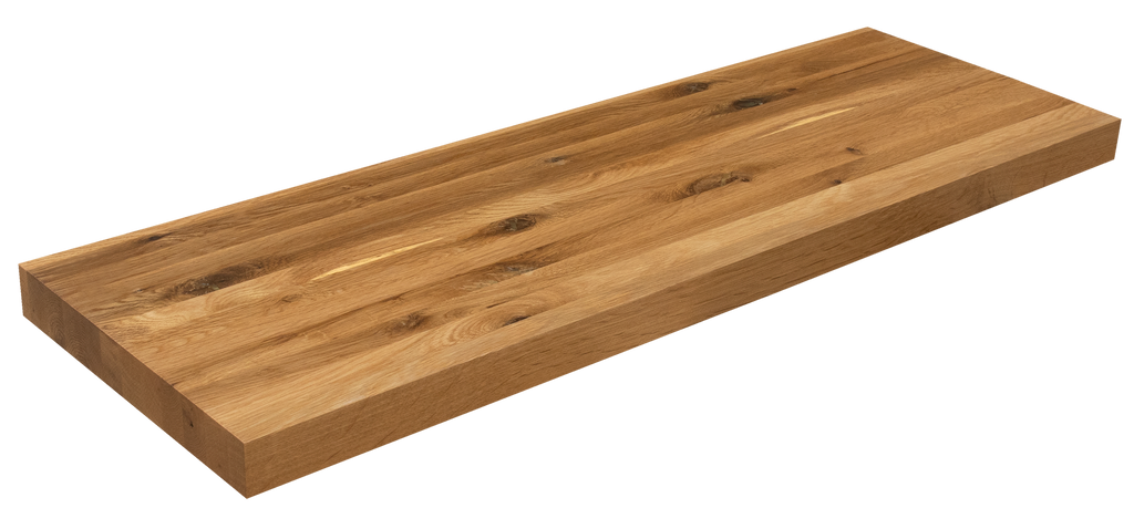 Live Sawn White Oak Floating Shelf EG