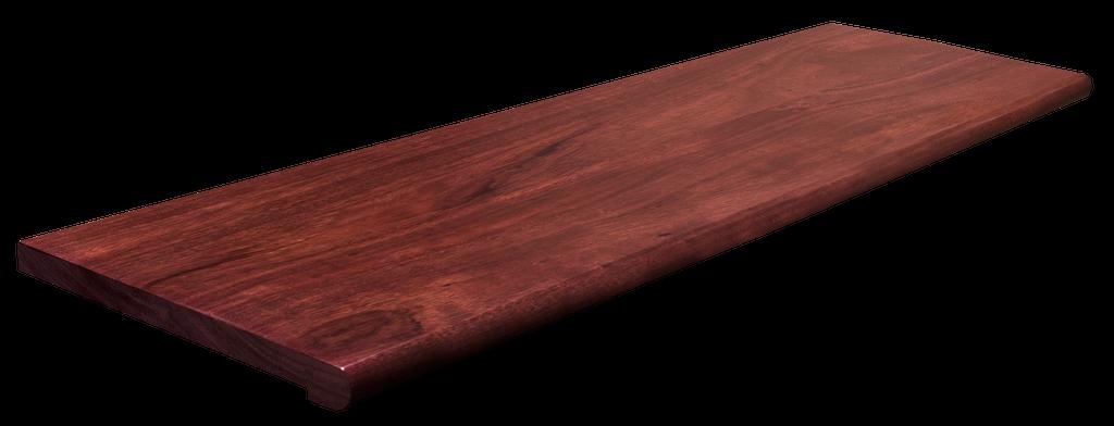 Retro-Fit Purpleheart Stair Tread