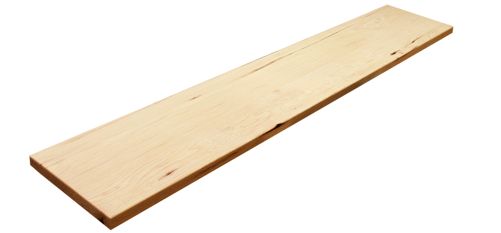 "Hickory Wide Plank (Face Grain) Countertop #583 (1""-9.25""-48"")"