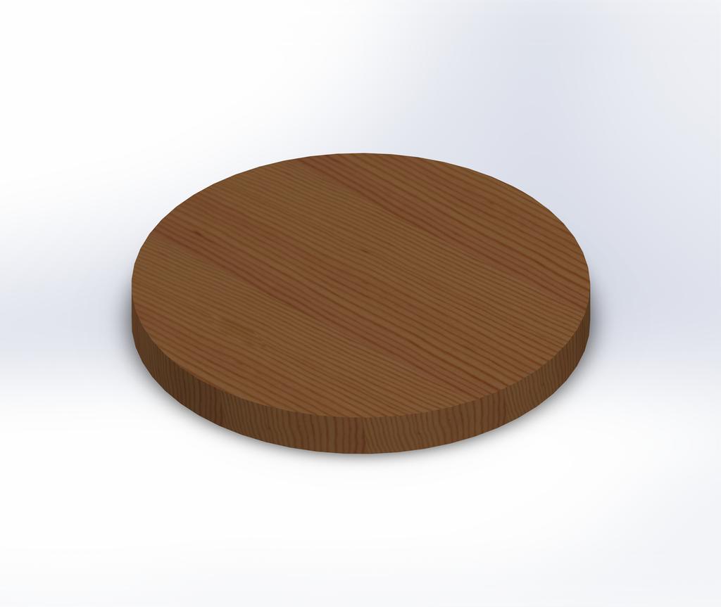 Round Douglas Fir Wide Plank (Face Grain) Table Top