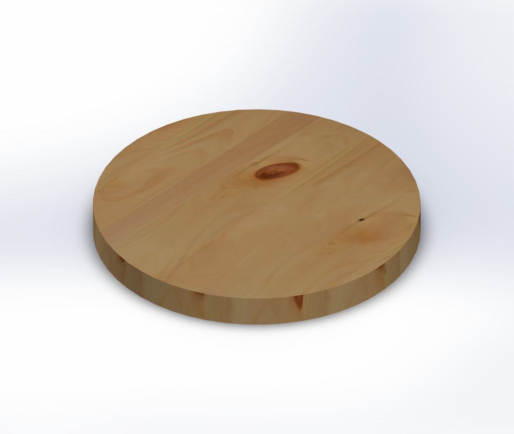 Round Knotty Pine Wide Plank (Face Grain) Table Top