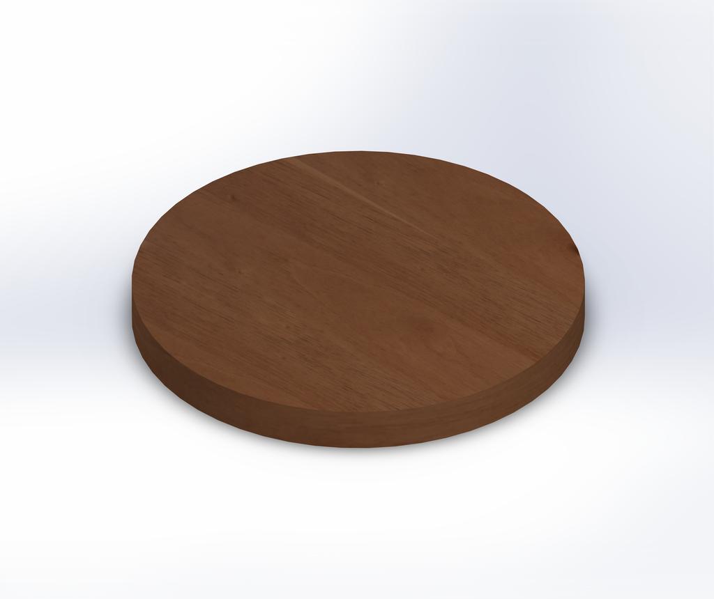 Round Spanish Cedar Wide Plank (Face Grain) Table Top