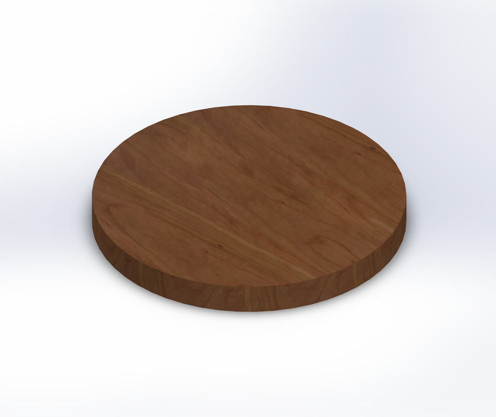 Round Character Cherry Wide Plank (Face Grain) Table Top
