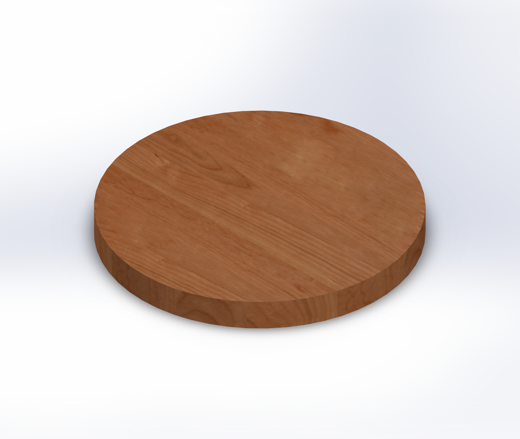 Round Clear Cherry Wide Plank (Face Grain) Table Top