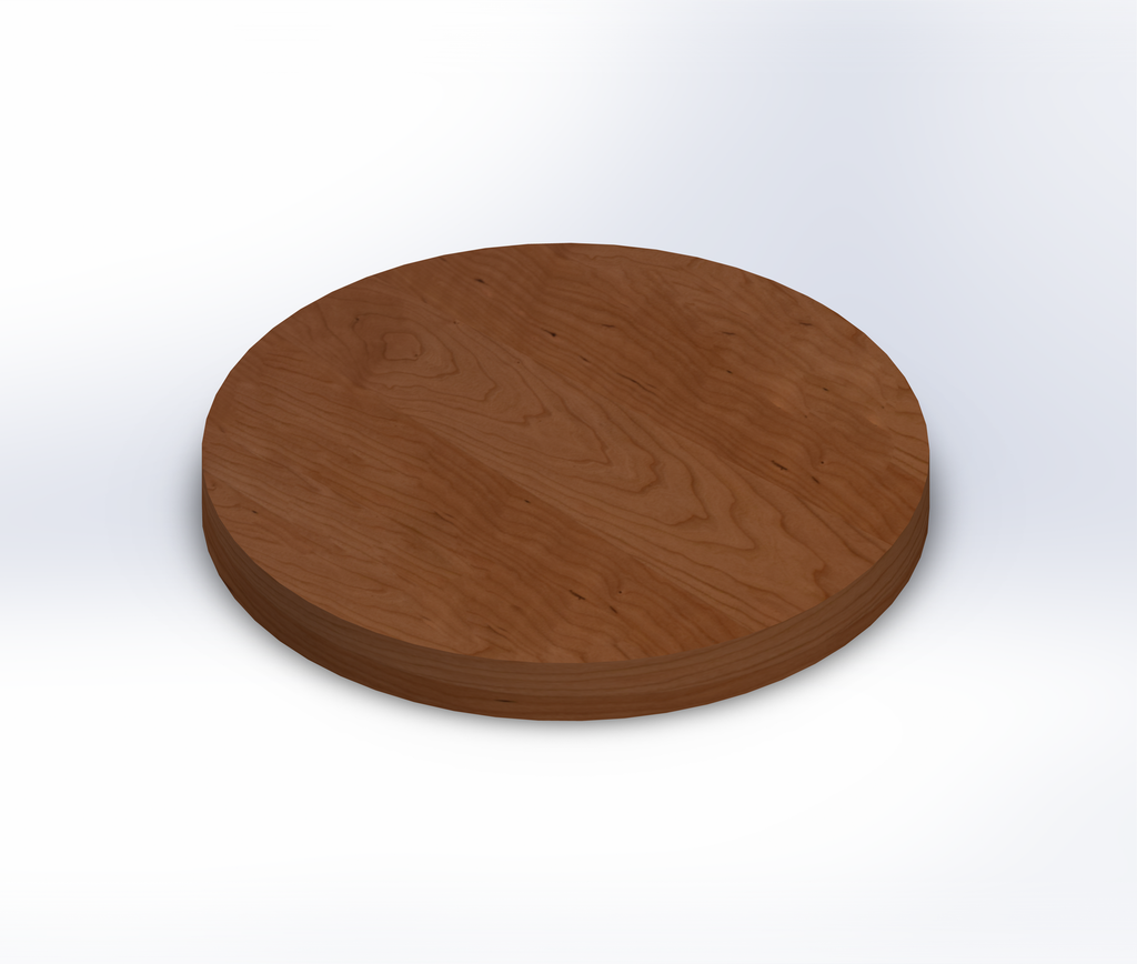 Round Rustic Cherry Wide Plank (Face Grain) Table Top