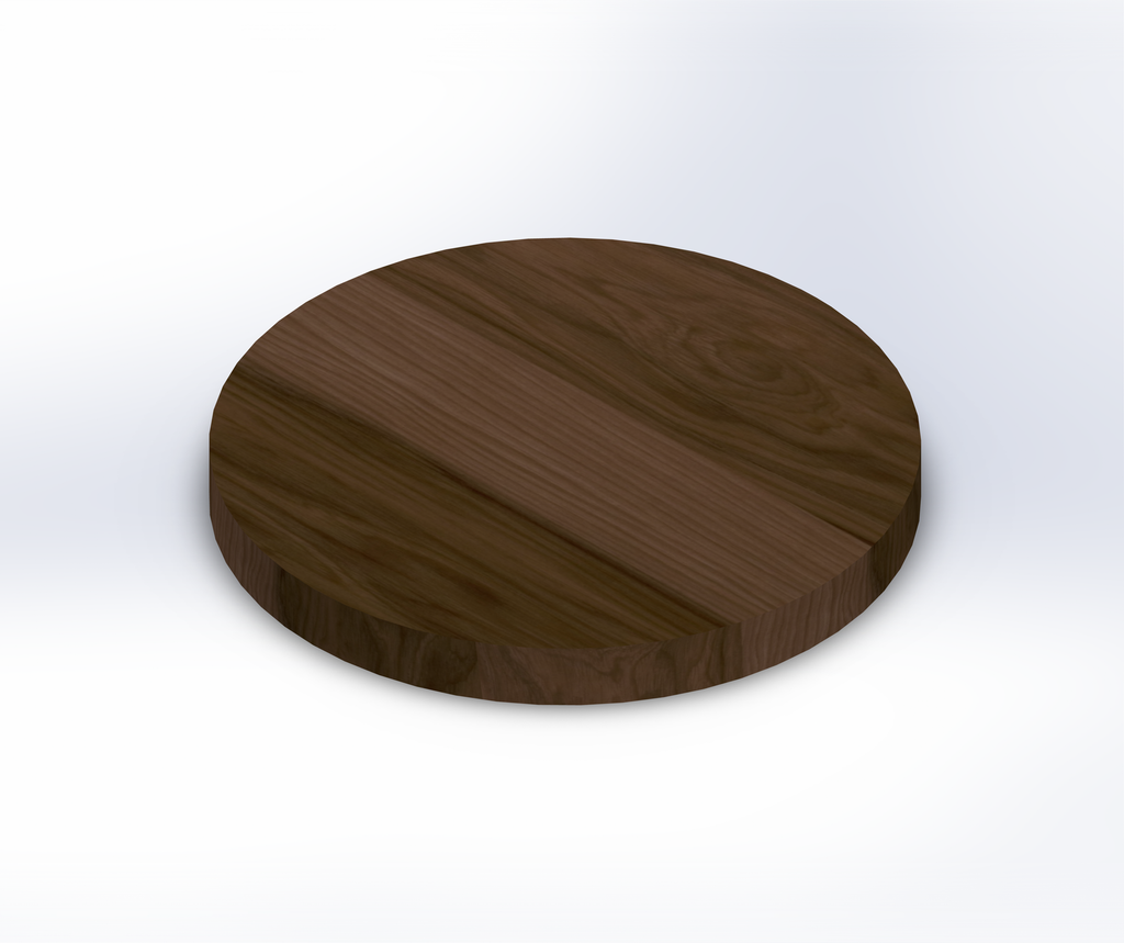 Round Hickory Wide Plank (Face Grain) Table Top