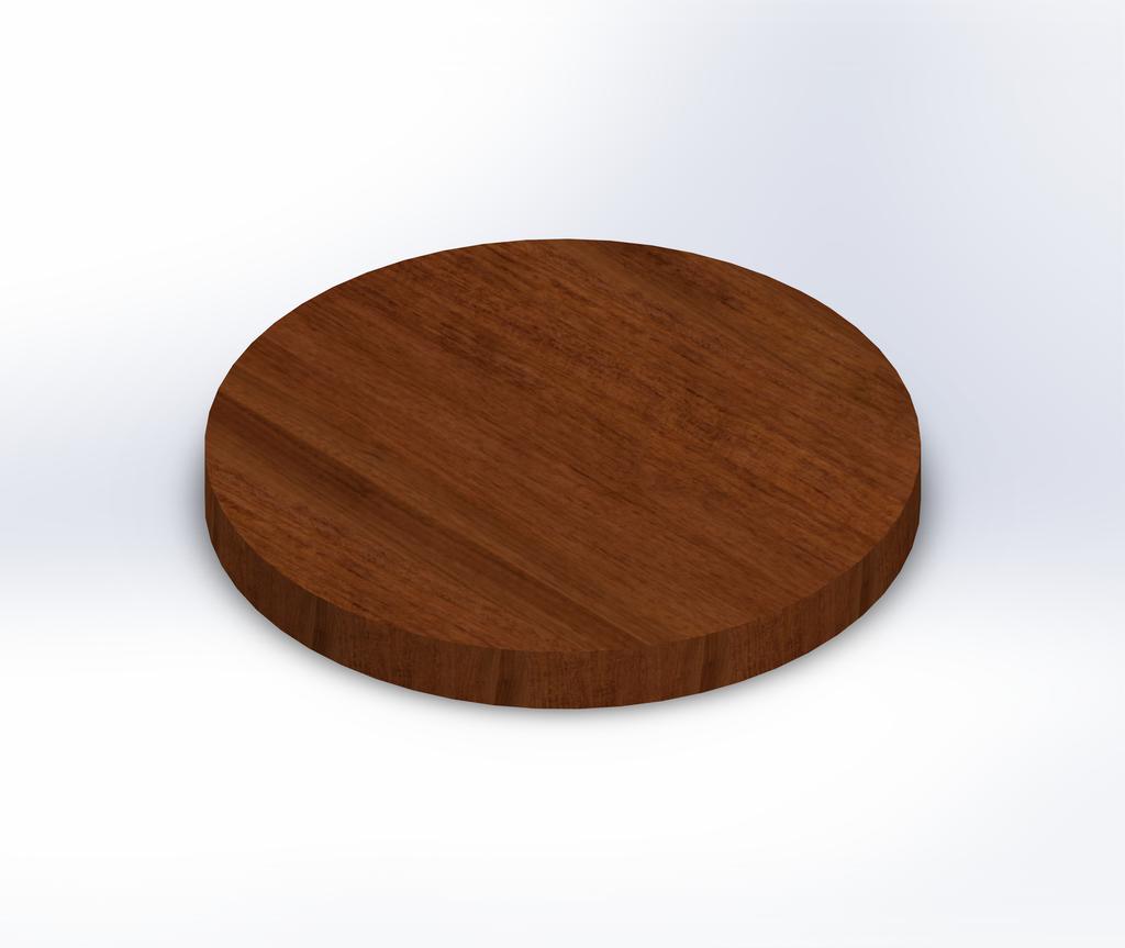 Round Brazilian Cherry (Jatoba) Wide Plank (Face Grain) Table Top