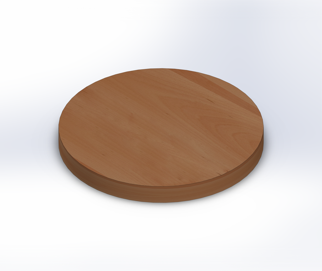 Round Beech Wide Plank (Face Grain) Table Top