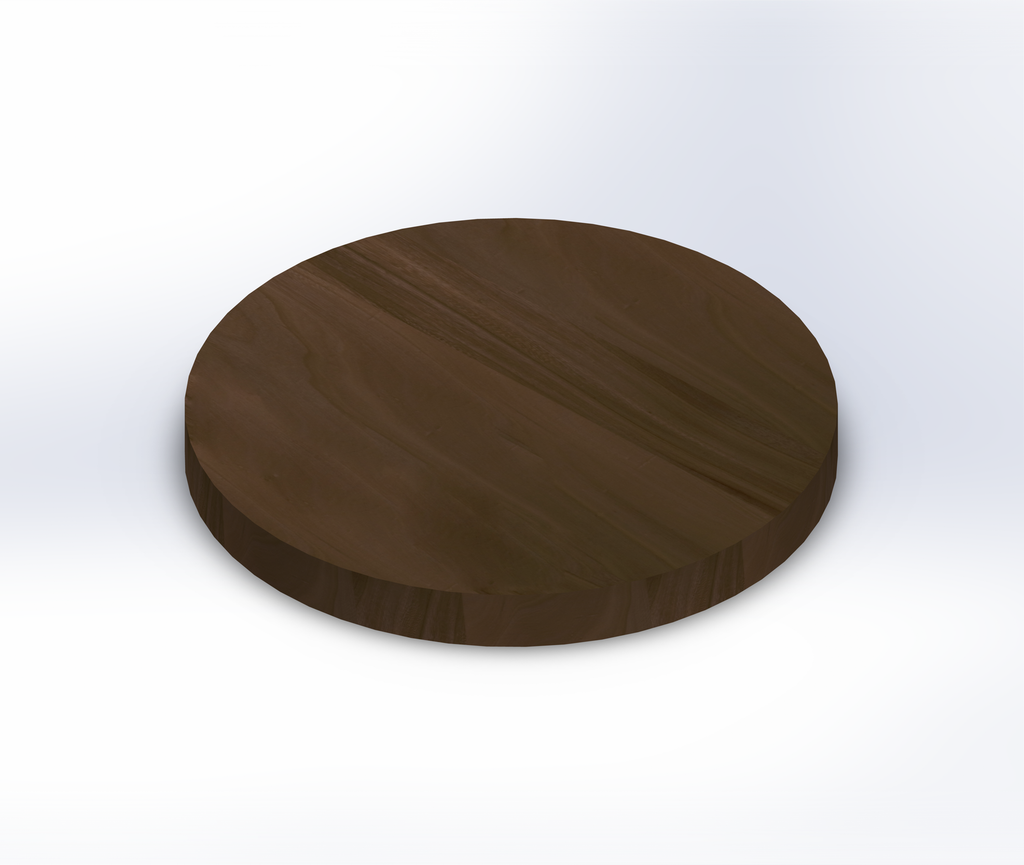 Round Grey Elm Wide Plank (Face Grain) Table Top