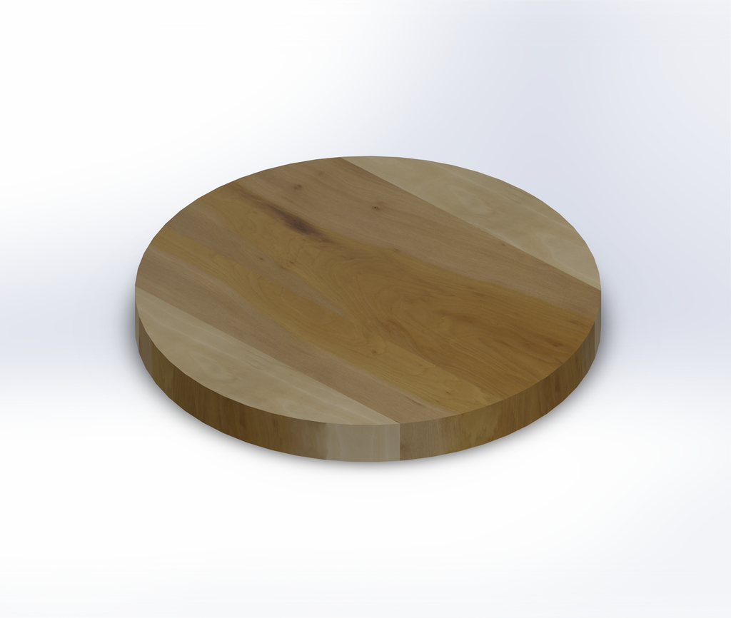 Round Sycamore Wide Plank (Face Grain) Table Top