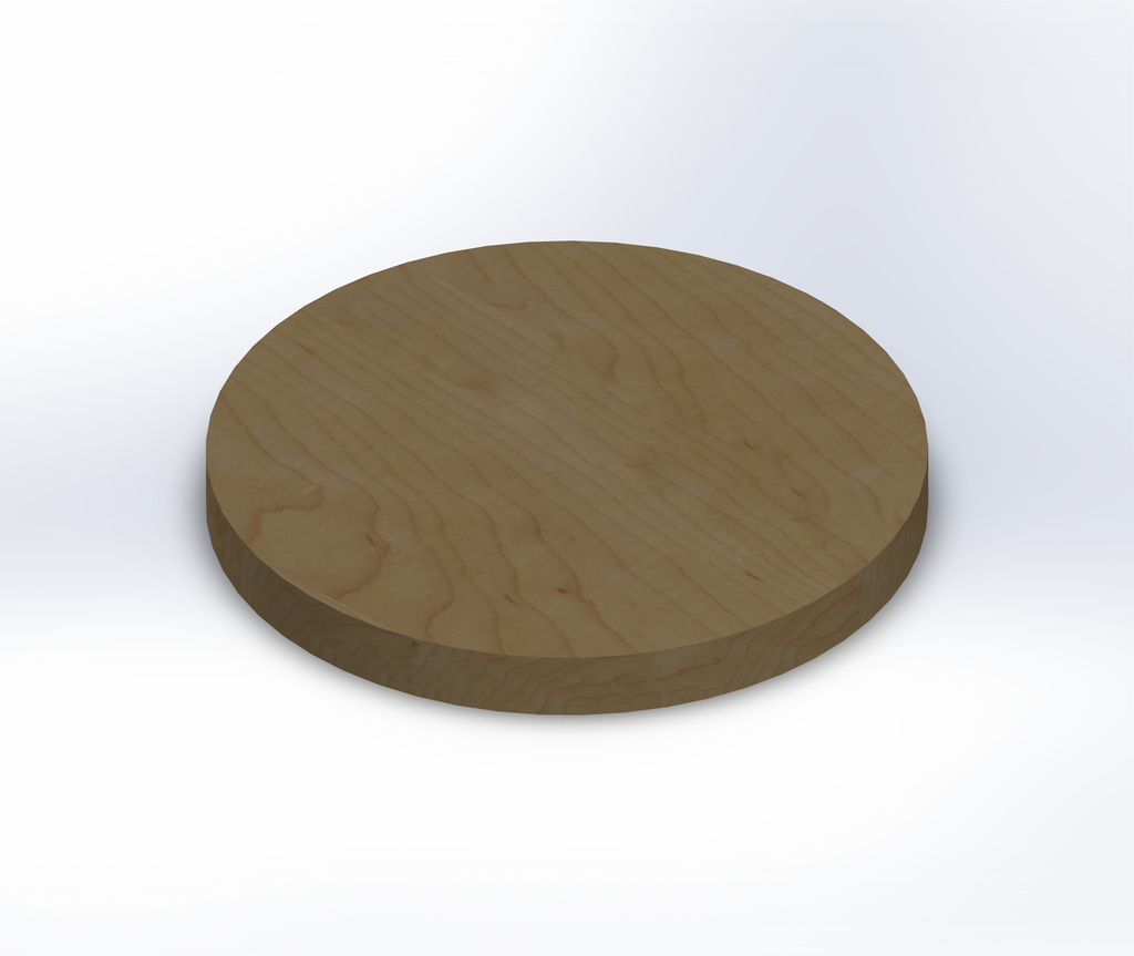 Round Hard Maple Wide Plank (Face Grain) Table Top