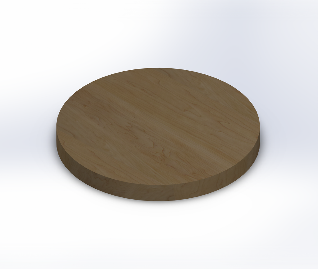 Round Soft Maple Wide Plank (Face Grain) Table Top