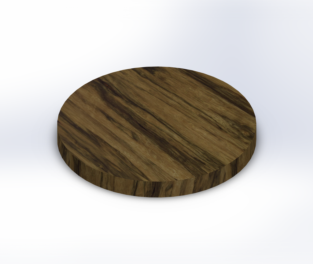 Round Black Limba Wide Plank (Face Grain) Table Top