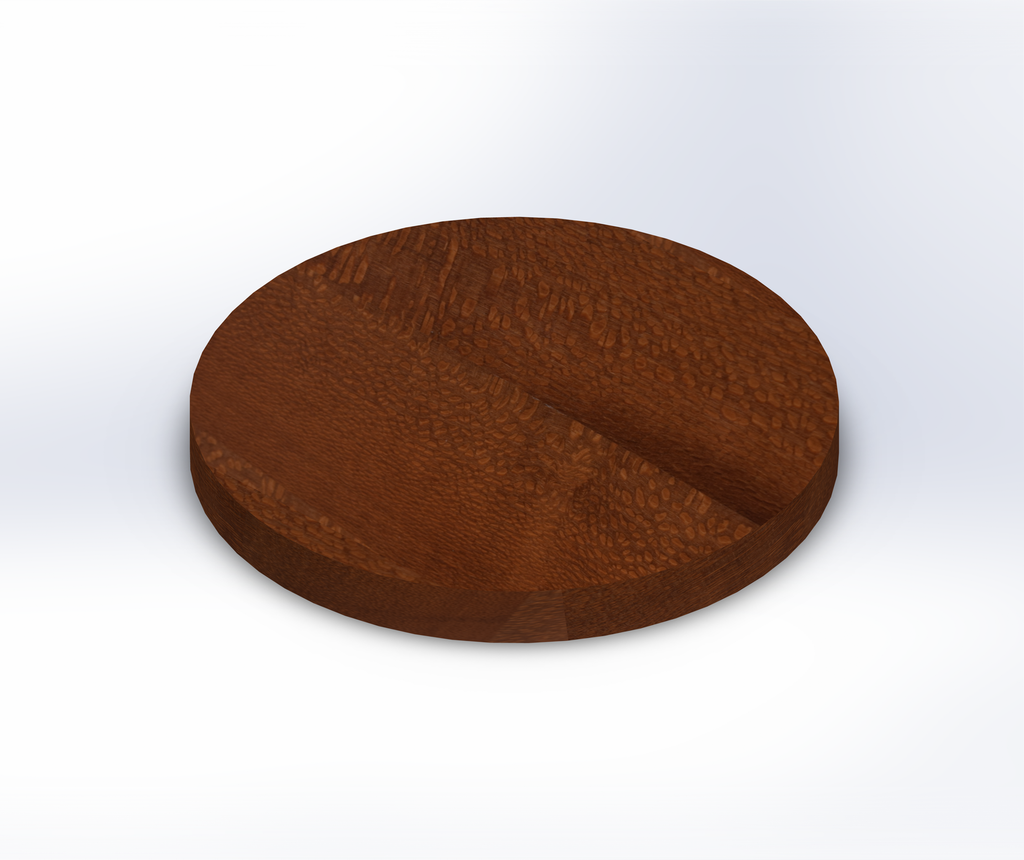 Round Leopardwood Wide Plank (Face Grain) Table Top