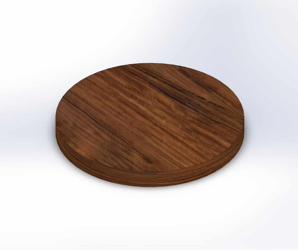 Round Shedua Wide Plank (Face Grain) Table Top