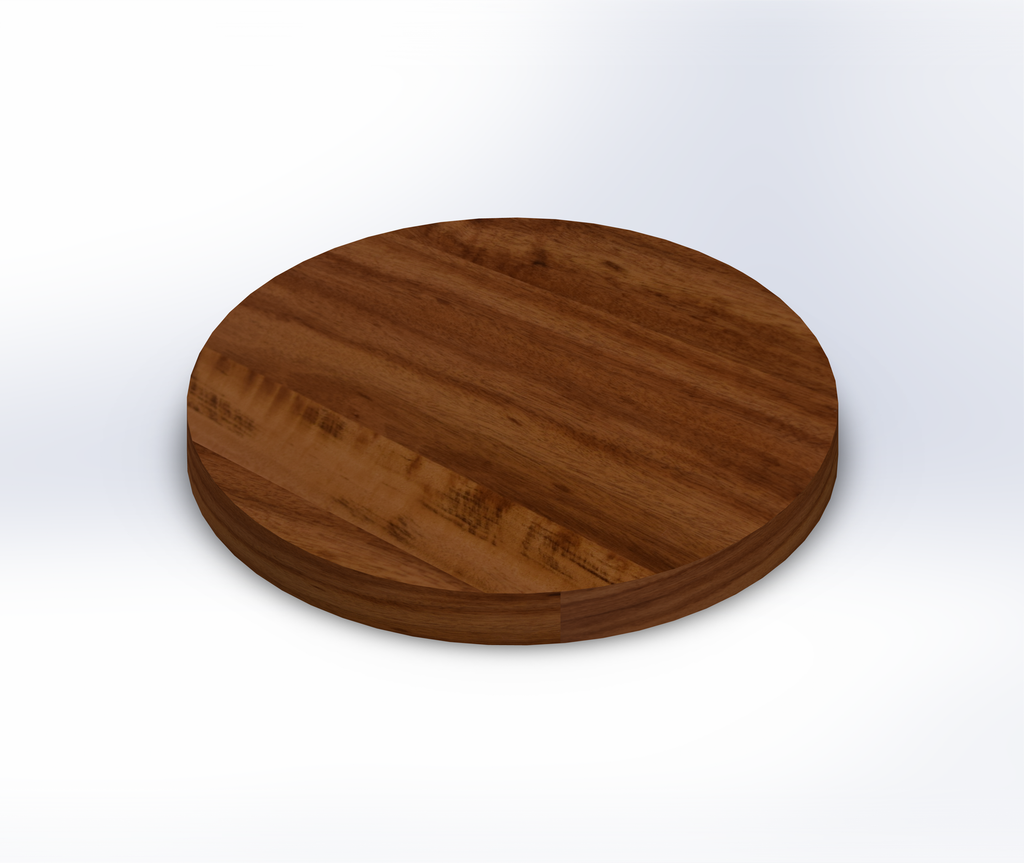 Round Tigerwood Wide Plank (Face Grain) Table Top