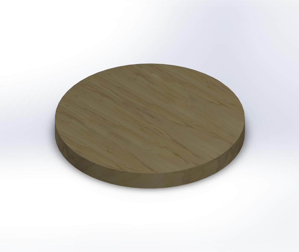 Round Poplar Wide Plank (Face Grain) Table Top