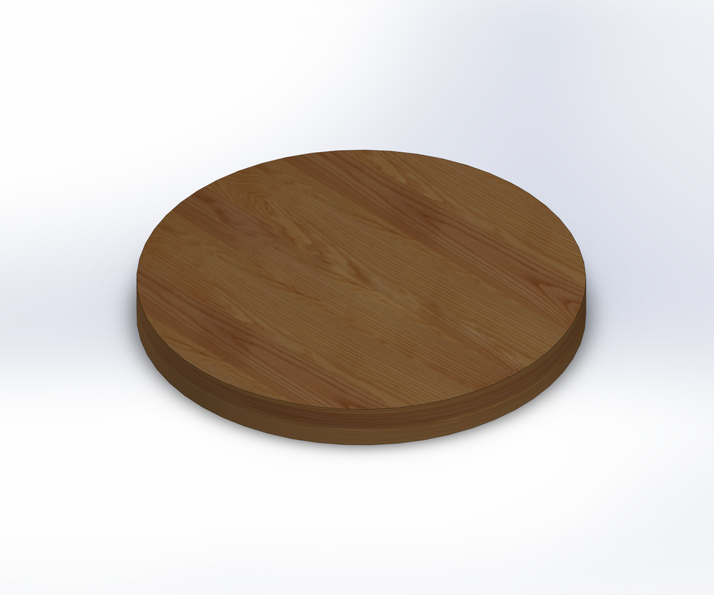 Round Ash Wide Plank (Face Grain) Table Top