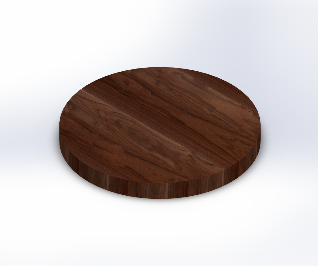 Round Walnut Wide Plank (Face Grain) Table Top