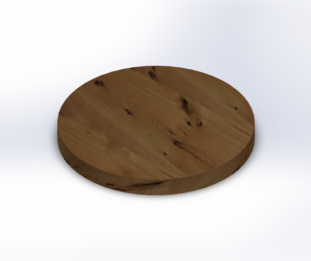 Round Live Sawn White Oak Table Top