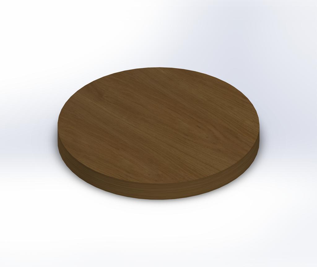 Round White Oak Wide Plank (Face Grain) Table Top