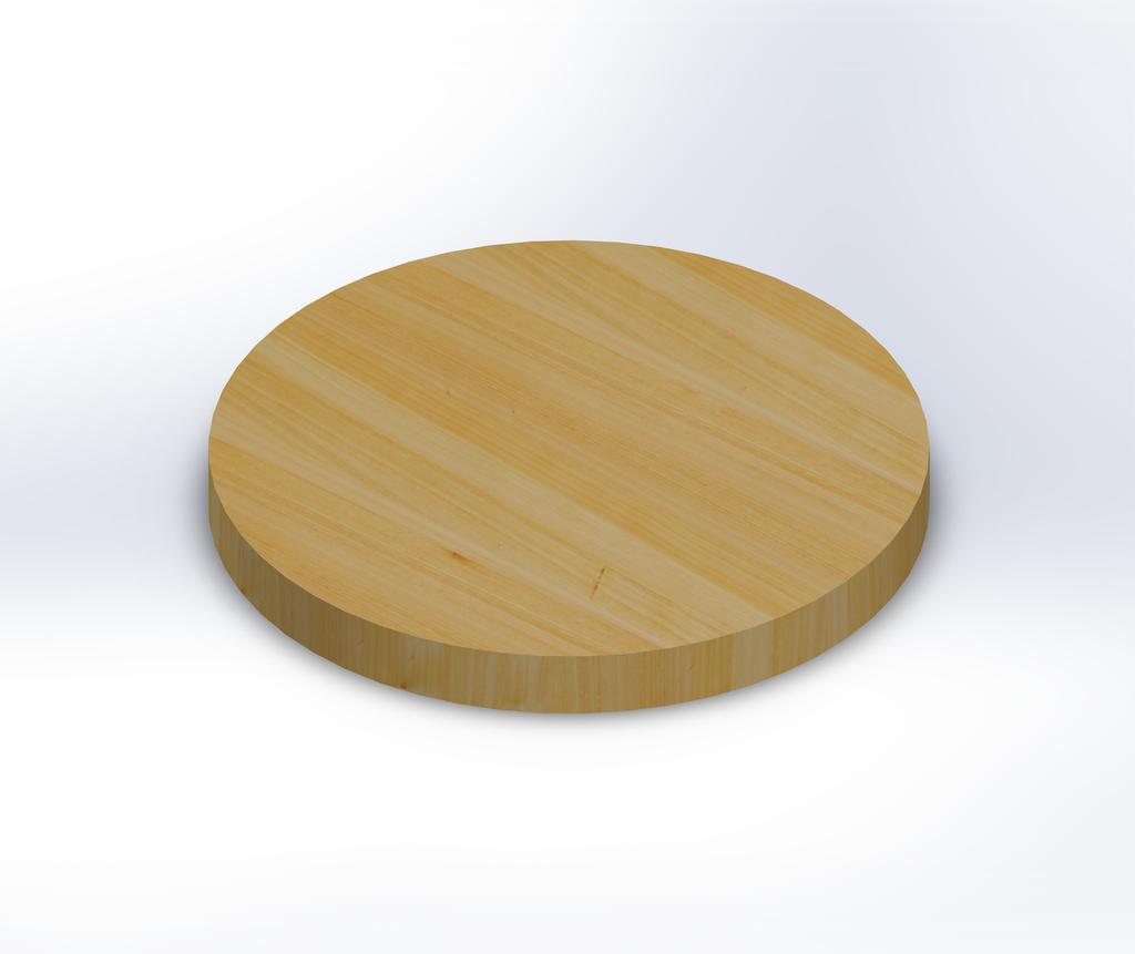 Round Cypress Edge Grain Butcher Block Table Top