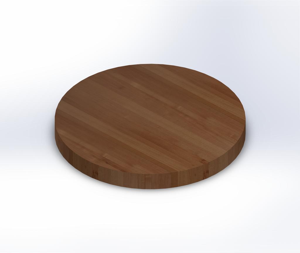 Round Spanish Cedar Edge Grain Butcher Block Table Top