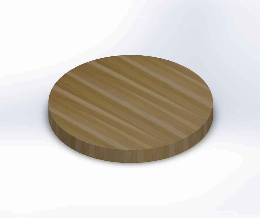 Round Poplar Edge Grain Butcher Block Table Top