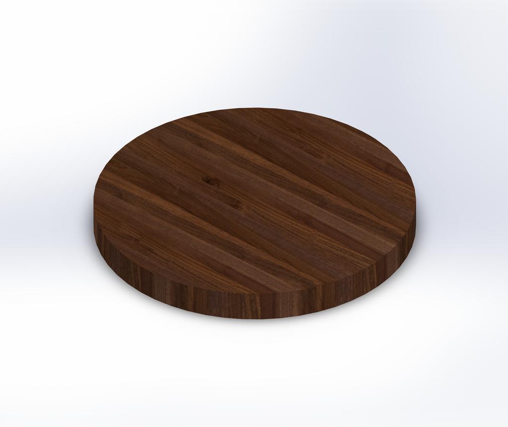 Round Premium Walnut Edge Grain Butcher Block Table Top