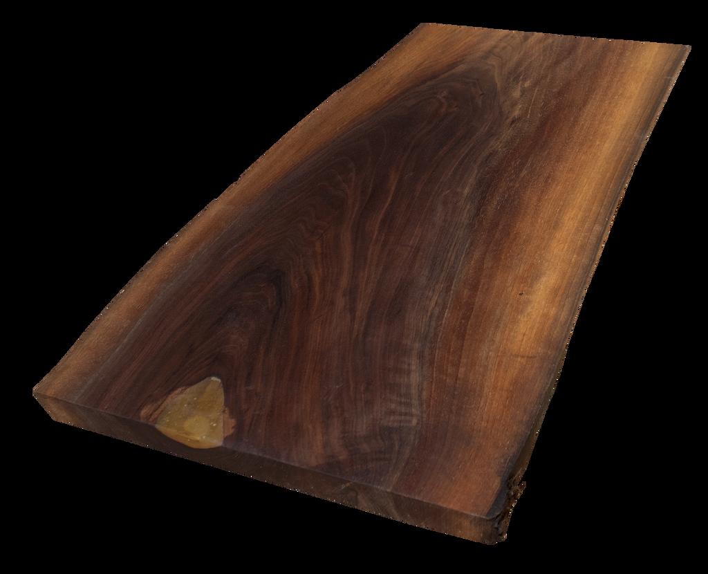 "Walnut Live Edge Cutting Board #123 (.75""-12.25""-18"")"