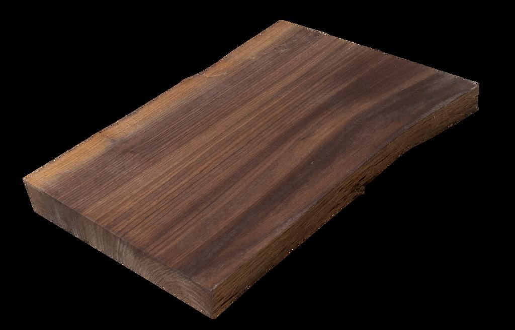 "Walnut Live Edge Cutting Board #130 (1""-9.75""-12"")"