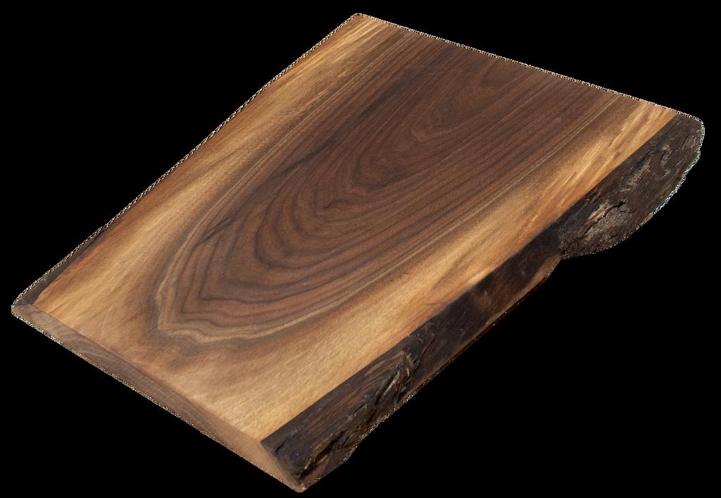 "Walnut Live Edge Cutting Board #144 (1""-13""-15.75"")"