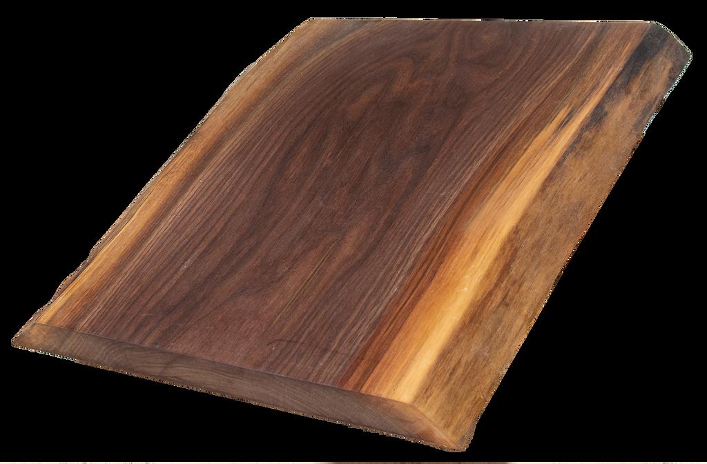 "Walnut Live Edge Cutting Board #152 (1.25""-14.5""-18"")"